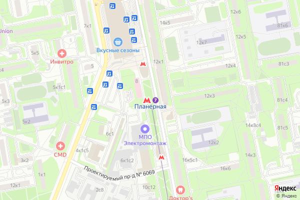 Ремонт телевизоров Метро Планерная на яндекс карте