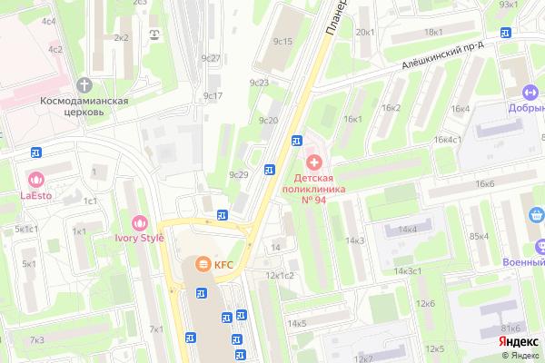 Ремонт телевизоров Улица Планерная на яндекс карте