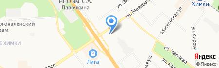 Магазин автозапчастей на ул. Маяковского на карте Химок