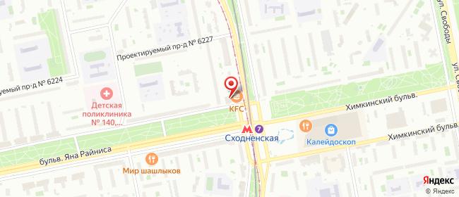 Карта расположения пункта доставки Москва Героев Панфиловцев в городе Москва