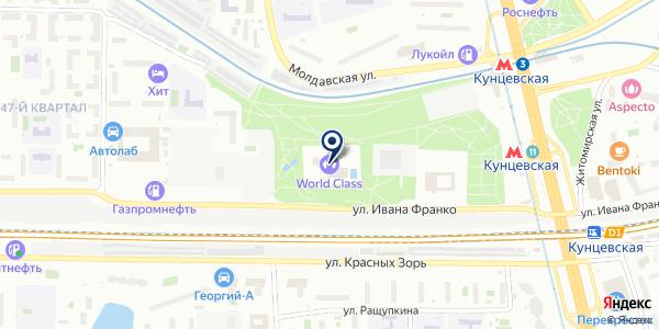 Чемпионика на карте Москве