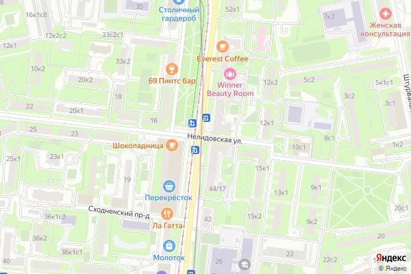 Ремонт телевизоров Улица Нелидовская на яндекс карте