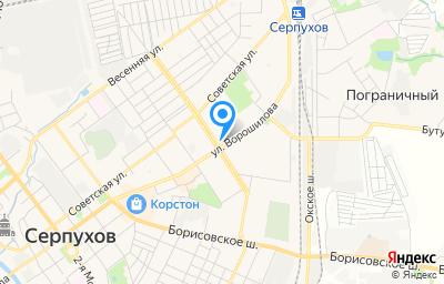 Местоположение на карте пункта техосмотра по адресу Московская обл, г Серпухов, ул Ворошилова, д 137