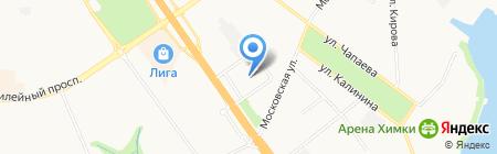 Дом быта на Ленинградской на карте Химок