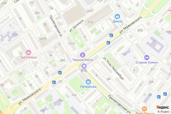 Ремонт телевизоров Улица Маяковского на яндекс карте