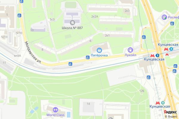 Ремонт телевизоров Улица Молдавская на яндекс карте