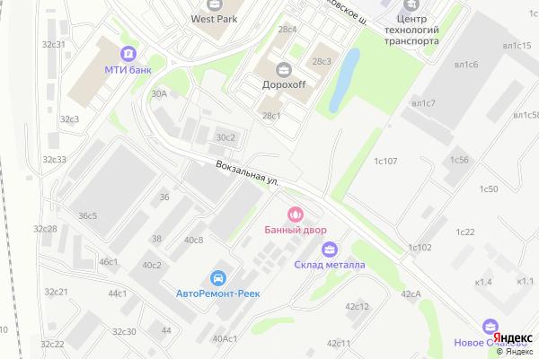 Ремонт телевизоров Улица Вокзальная на яндекс карте