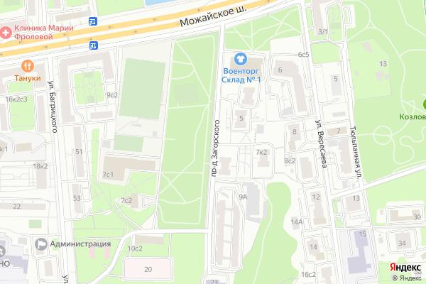 Ремонт телевизоров Загорского проезд на яндекс карте