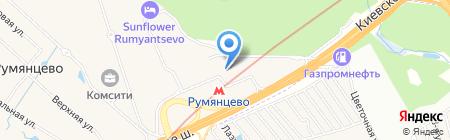 Флэйн на карте Москвы