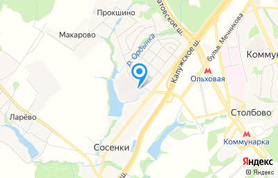 Местоположение на карте пункта техосмотра по адресу г Москва, Сосенское п