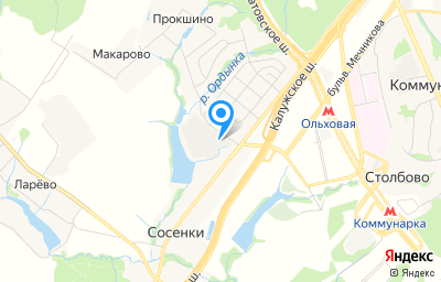 Местоположение на карте пункта техосмотра по адресу г Москва, Сосенское п, д Сосенки
