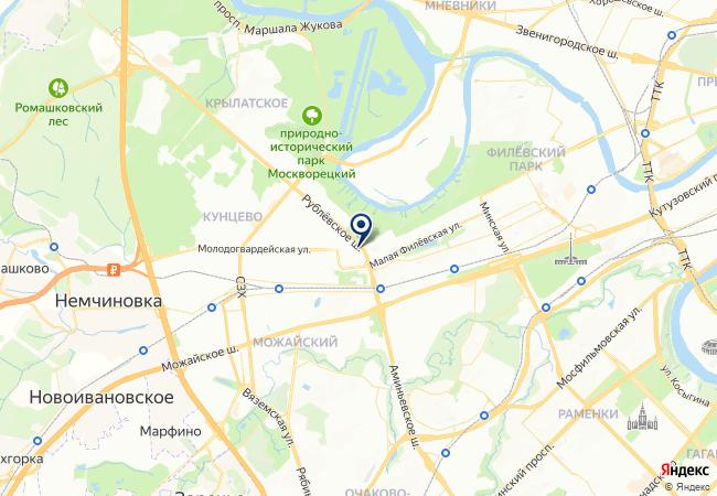 Расположение клиники Belgravia Dental Studio на «Кунцевской»