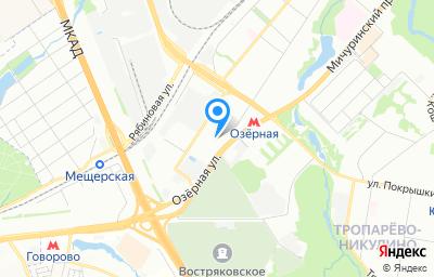 Местоположение на карте пункта техосмотра по адресу г Москва, ул Озёрная, д 44А