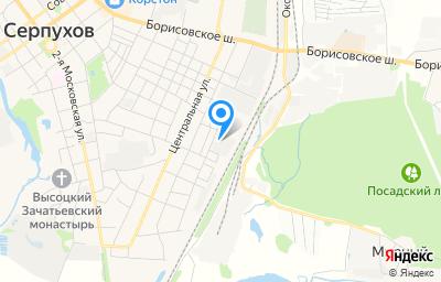 Местоположение на карте пункта техосмотра по адресу Московская обл, г Серпухов, ул Полевая, д 20