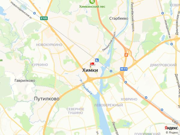 Карта город Химки