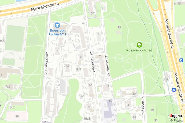 Ремонт телевизоров Улица Вересаева на яндекс карте