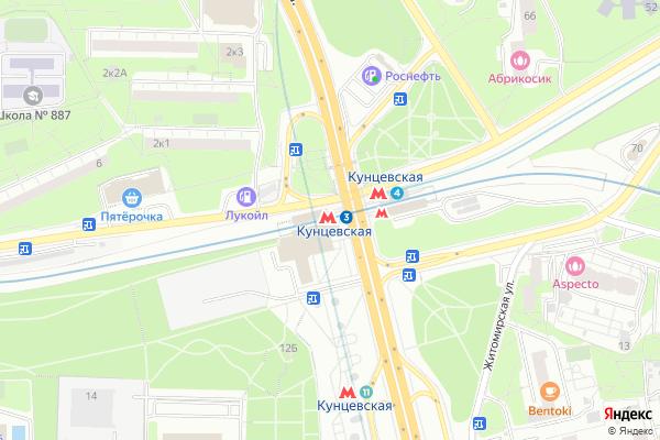 Ремонт телевизоров Метро Кунцевская на яндекс карте