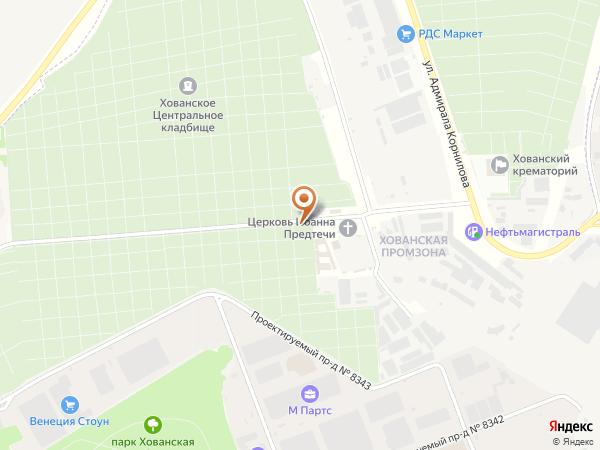Остановка «Главный вход кладбища», проезд без названия (1008880) (Москва)