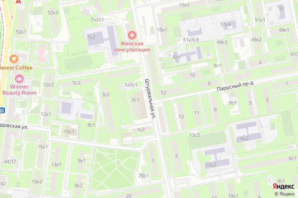 Ремонт телевизоров Улица Штурвальная на яндекс карте