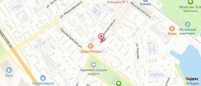 Карта расположения пункта доставки Химки Московская в городе Химки
