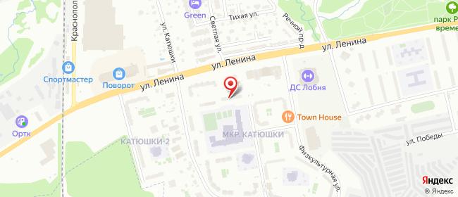 Карта расположения пункта доставки Лобня Лобненский Бульвар в городе Лобня