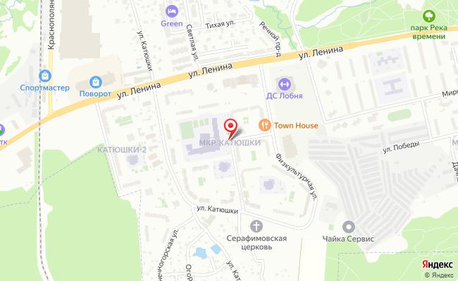 Карта расположения пункта доставки Пункт выдачи в городе Лобня