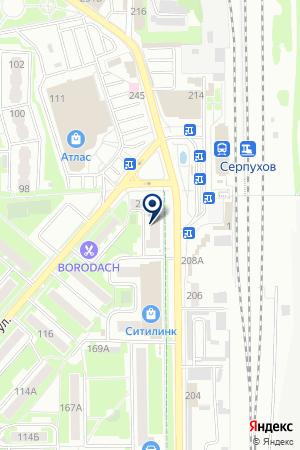 СЕРПУХОВСКОЕ АМБУЛАТОРНО-ПОЛИКЛИНИЧЕСКОЕ ПОДРАЗДЕЛЕНИЕ № 6 на карте Серпухова