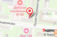 Схема проезда до компании Глосс в Москве