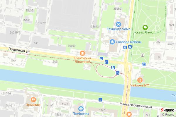 Ремонт телевизоров Улица Лодочная на яндекс карте