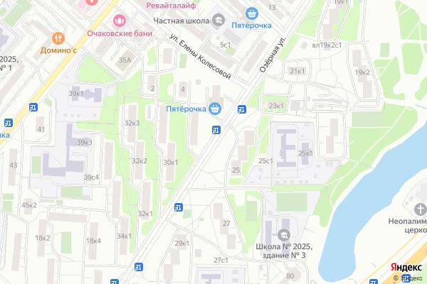 Ремонт телевизоров Улица Озерная на яндекс карте