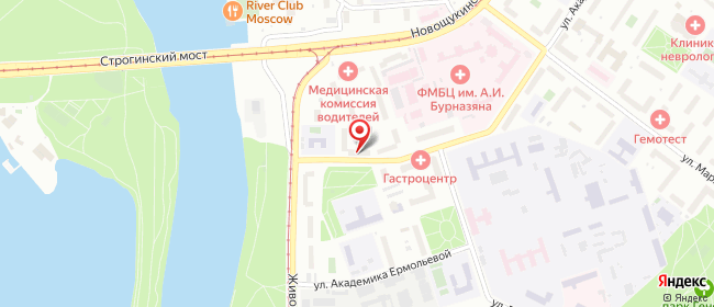 Карта расположения пункта доставки Москва Академика Бочвара в городе Москва