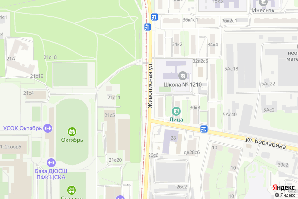 Ремонт телевизоров Улица Живописная на яндекс карте