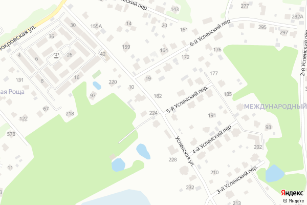 Ремонт телевизоров Улица Успенская на яндекс карте