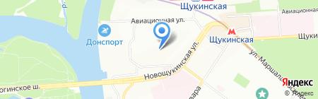 Средняя общеобразовательная школа №1005 Алые паруса на карте Москвы