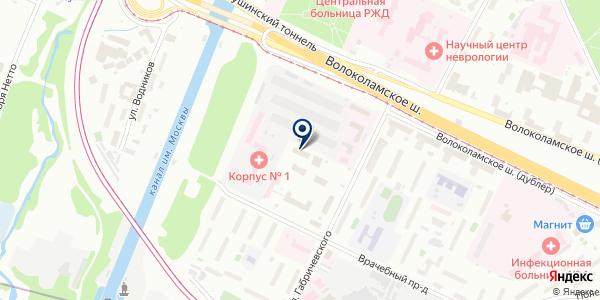 ИНТАХО на карте Москве