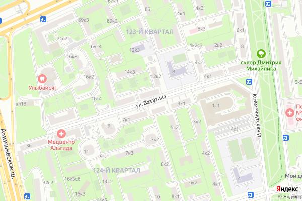 Ремонт телевизоров Улица Ватутина на яндекс карте
