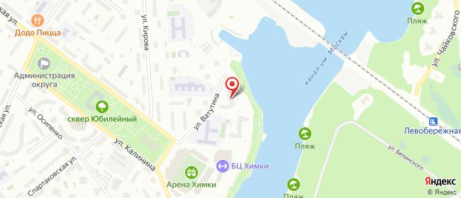 Карта расположения пункта доставки Телепорт в городе Химки
