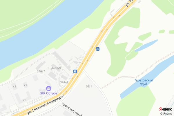 Ремонт телевизоров Улица Нижние Мневники на яндекс карте