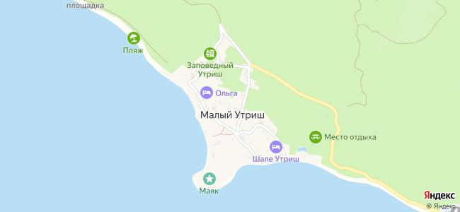 Частный сектор Утриша - объекты на карте