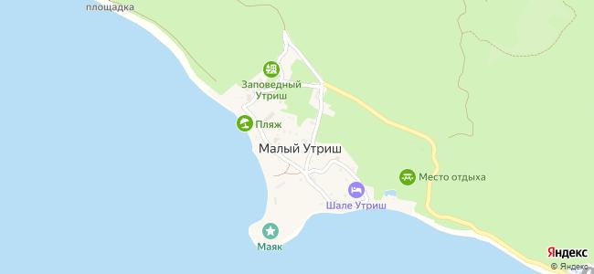 Базы отдыха Утриша - объекты на карте