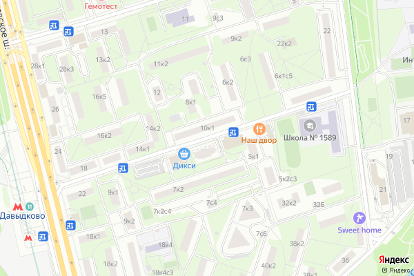 Ремонт телевизоров Улица Инициативная на яндекс карте