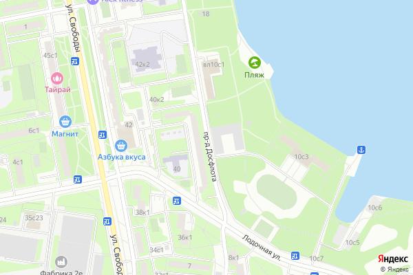 Ремонт телевизоров Досфлота проезд на яндекс карте