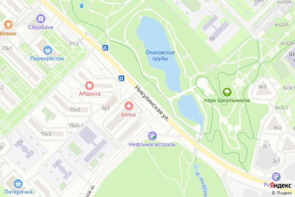 Ремонт телевизоров Улица Никулинская на яндекс карте