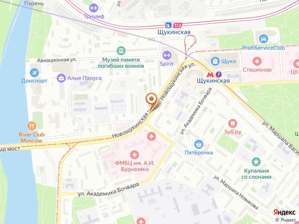 Остановка «Мед. центр им. Бурназяна», Новощукинская улица (854) (Москва)