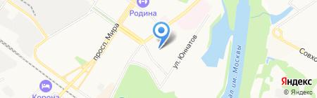 Магазин фруктов и овощей на ул. Кудрявцева на карте Химок