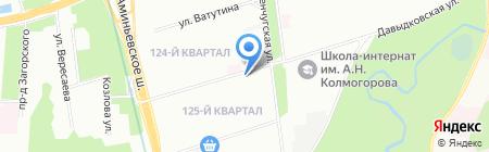 Фили-дизайн на карте Москвы