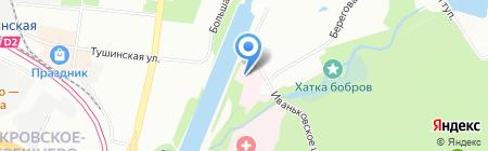 Центральная клиническая больница гражданской авиации на карте Москвы