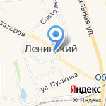 Ленинский районный суд на карте Ленинского