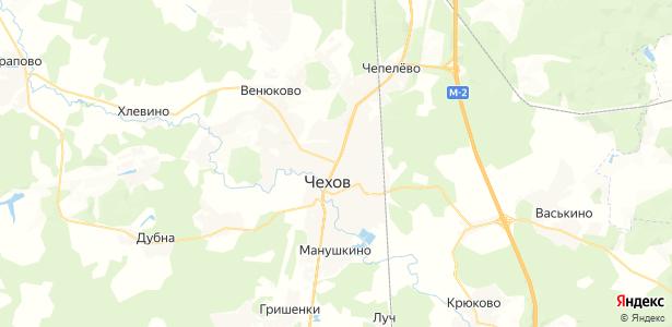 Чехов на карте