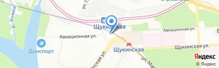 Магазин товаров для дома на Авиационной на карте Москвы